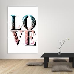 Toile 40 x 60 - Amour coloré