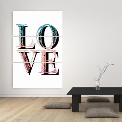 Canvas 40 x 60 - Colorful love