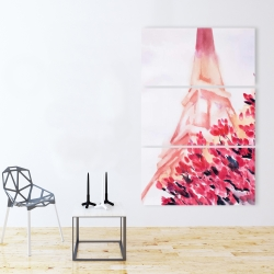 Canvas 40 x 60 - Pink eiffel tower