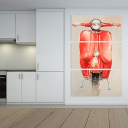 Canvas 40 x 60 - Small red moped
