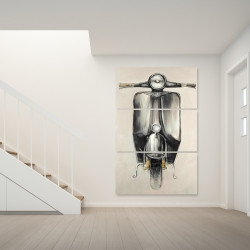 Canvas 40 x 60 - Small black moped