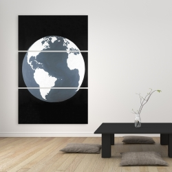 Canvas 40 x 60 - Earth satellite view