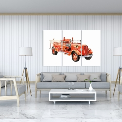 Canvas 40 x 60 - Vintage fire truck