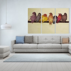 Canvas 40 x 60 - Bird family