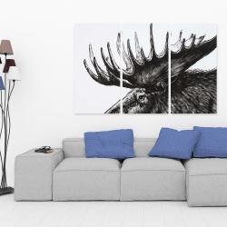 Canvas 40 x 60 - Moose plume