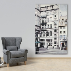 Canvas 40 x 60 - Street scene in germany