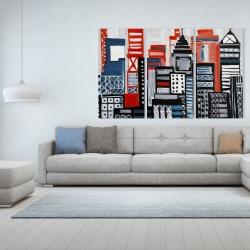 Canvas 40 x 60 - Geometric urban landscape