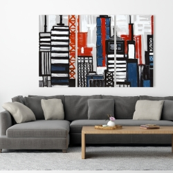 Canvas 40 x 60 - Geometric towers and buildings
