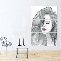 Canvas 40 x 60 - Beautiful female hair