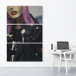 Canvas 40 x 60 - Young punk woman