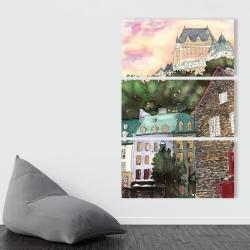 Canvas 40 x 60 - Château frontenac in the petit champlain