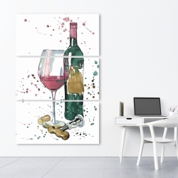 Canvas 40 x 60 - Bottle of red wine