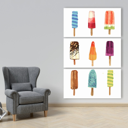 Canvas 40 x 60 - Iced lollipop