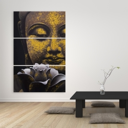 Canvas 40 x 60 - The eternal smile of buddha and his lotus