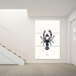 Canvas 40 x 60 - Blue lobster