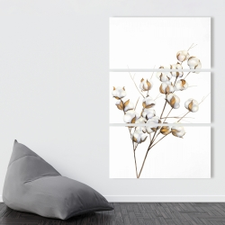 Canvas 40 x 60 - A branch of cotton flowers