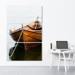 Canvas 40 x 60 - Rowboat on calm water