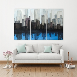 Canvas 40 x 60 - View of a blue city