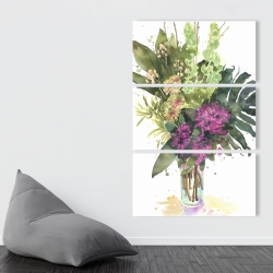 Canvas 40 x 60 - Tropical flower assemblage