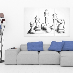 Canvas 40 x 60 - Chess game pieces