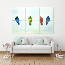 Canvas 40 x 60 - Perched abstract birds