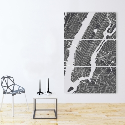 Canvas 40 x 60 - New-york city plan