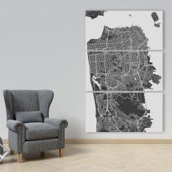 Canvas 40 x 60 - San francisco city plan