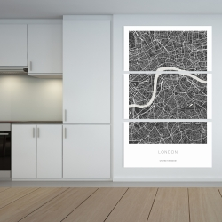 Canvas 40 x 60 - Graphic map of london