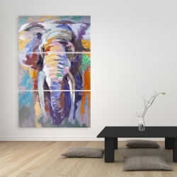 Canvas 40 x 60 - Elephant in pastel color