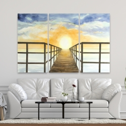 Canvas 40 x 60 - Sunset in the sea