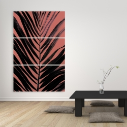Canvas 40 x 60 - Coral tropical palm leave