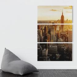 Canvas 40 x 60 - New york city at sunset