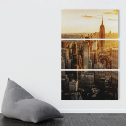 Canvas 40 x 60 - New york city at sunset