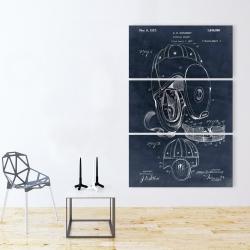 Canvas 40 x 60 - Blueprint football helmet