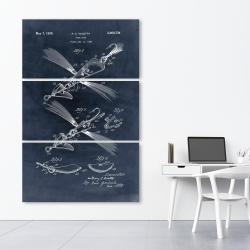 Canvas 40 x 60 - Blueprint of a fish lure