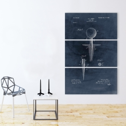 Canvas 40 x 60 - Blueprint of golf tee