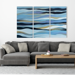 Canvas 40 x 60 - Blue sweep