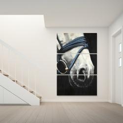 Toile 40 x 60 - Cheval avec harnais d'attelage