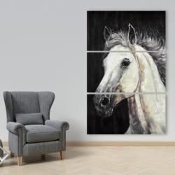 Canvas 40 x 60 - White star horse