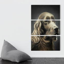 Canvas 40 x 60 - Field spaniel