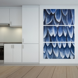 Canvas 40 x 60 - Plumage blue