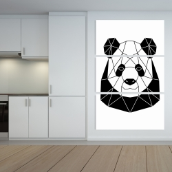 Canvas 40 x 60 - Geometric panda