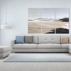 Canvas 40 x 60 - Cloudy at the beach