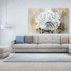 Canvas 40 x 60 - White peony