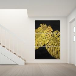 Toile 40 x 60 - Feuille monstera doré