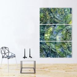 Toile 40 x 60 - Succulents abstrait