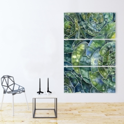 Canvas 40 x 60 - Abstract succulents