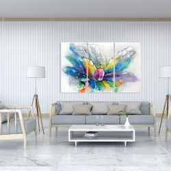 Canvas 40 x 60 - Abstract flower with newspaper