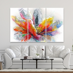 Canvas 40 x 60 - Abstract flower with texture