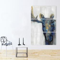Canvas 40 x 60 - Blue moose